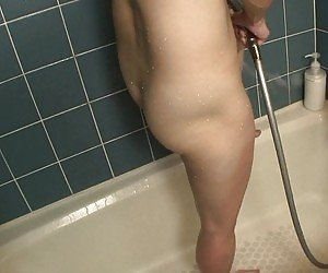 Pussy In Shower Tube